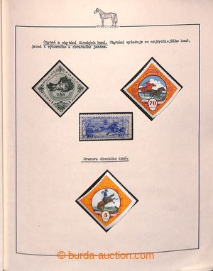 196946 - 1900-1950 [COLLECTIONS]  HORSES/ motive collection / exhibit