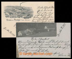196956 - 1899 PONIKLÁ - sestava 2 pohlednic, 1x s dobovou fotografi�