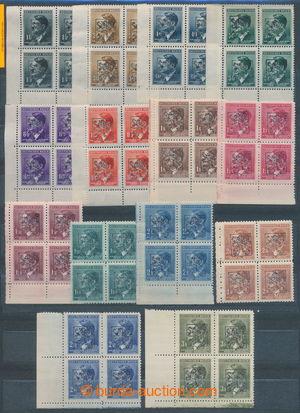 197024 - 1945 PRAHA / černý přetisk Lev na zn. A.H. 10h - 30K, vše v