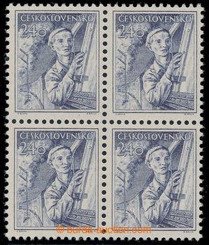 197052 - 1954 Pof.786b, Povolání 2,40Kčs, šedomodrá, 4-blok, mřížkova