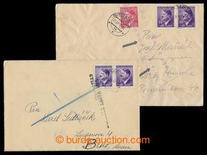 197194 - 1945 DOPRAVA ZASTAVENA  2x dopis zaslaný do Brna, oba vrácen