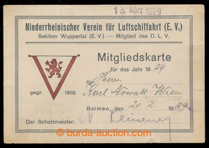 197252 - 1929 AVIATION / GERMANY  passport member dolnohesenského VZ