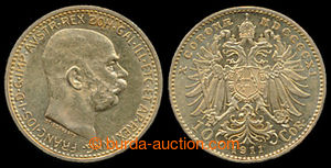 197422 - 1909 FRANZ JOSEPH I., 10Kr 1909, type Schwartz, Au 0.900, 3.