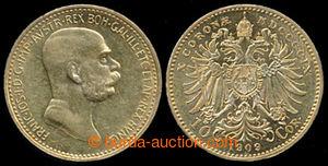 197423 - 1909 FRANZ JOSEPH I., 10Kr 1909, Au 0.900, 3.387, quality 1/