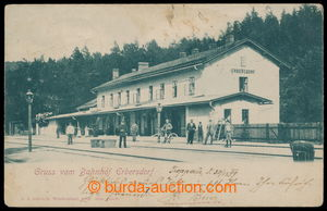 197461 - 1899 MILOTICE N. OPAVOU - station building, track, people, i