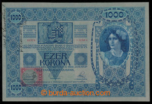 197485 - 1919 Ba.6, 1000 Koruna, 2.1.1902, printed revenue, set 1231,