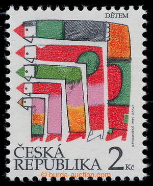 197537 - 1994 Pof.41a, Children's Day 2CZK with plate variety 13/2; c