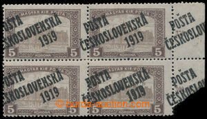 197577 -  Pof.117 ST Ia, Parliament 5 K, marginal lower left corner b