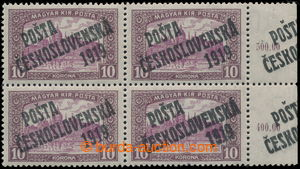 197578 -  Pof.118 ST Ia, Parliament 10K, lower corner blok of 4 with