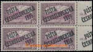 197578 -  Pof.118 ST Ia, Parlament 10K, dolní rohový 4-blok s pravým