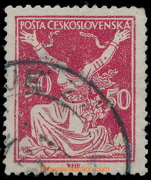 197580 -  Pof.155A printing flaw 2, Chainbreaker 50h red, used stamp