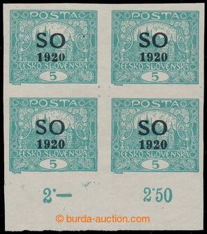 197586 -  Pof.SO3, Hradčany 5h modrozelená, nezoubkovaný 4-blok s dol