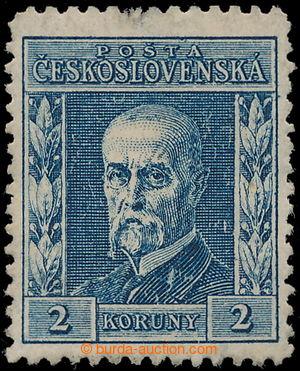 197588 - 1925 Pof.195II P2, Rytina 2Kč modrá, II. typ, ŘZ 13¾, S
