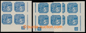 197590 - 1939 Pof.NV2, Pigeon-issue 5h, LR corner blk-of-4 with plate