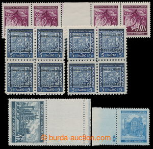 197591 - 1939-41 comp. 5 pcs of various production flaws, contains: a