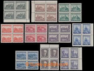 197594 - 1928 Pof.233B-242B, Jubilee 1928, complete set 30h - 5Kč, al