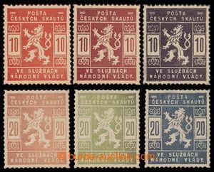 197625 -  ZT SK1 + SK2, Skautské 10h a 20h, sestava 6ks zkusmých tisk