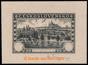 197626 - 1926 PLATE PROOF Pof.226, Prague 3Kč, plate proof in black c