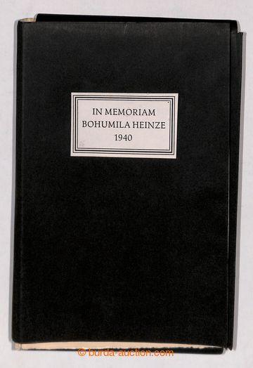 197629 - 1942 IN MEMORIAM BOHUMILA HEINZE 1940  významná publikace o