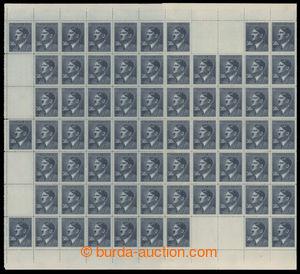 197642 - 1942 ARCHOVINA / Pof.99, A.H. 50K modrá, kompletní 100ks PA;