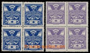 197665 -  Pof.143A + 144A R1, hodnoty 5h modrá a 5h fialová s retuší