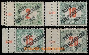 197720 -  Pof.132+135+137+138, Červené číslice 2f, 10f, 15f a 20f, z