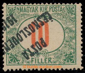 197721 -  Pof.135Pp, Červené číslice 10f, převrácený přetisk; ojedině