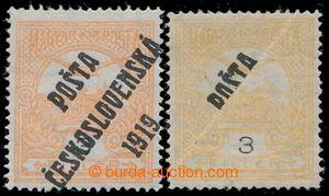 197722 -  Pof.91, Turul 3f, 2ks, 1x 3f oranžová, IV. typ přetisku (le