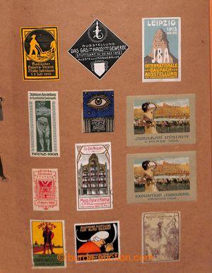197724 - 1890-1920 [SBÍRKY]  NÁLEPKY / partie 765 ks různých propagač