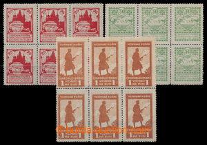 197770 - 1919 Pof.PP2-4B, Dobročinné - Siluety 25k - 1Rbl, ŘZ 13&#190