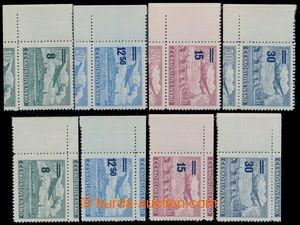 197783 - 1949 Pof.KL29-32, Přetisková provizoria, 2 kompletní řady le