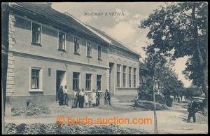 197789 - 1925 VÍCOV - hospoda U Králů, jednozáběrová pohlednice na bu