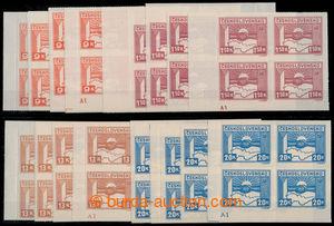 197795 -  Pof.353, 357-359, hodnoty 1,50, 9, 13 a 20K, kompletní roho