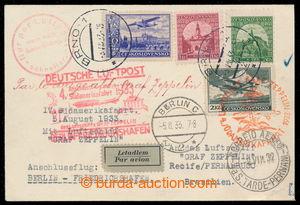 197809 - 1933 ZEPPELIN / 4. SÜDAMERIKAFAHRT 1933, přípojný let Brno -