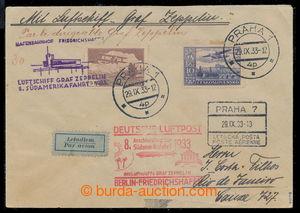 197810 - 1933 ZEPPELIN / 8. SÜDAMERIKAFAHRT 1933 - přípojný let Praha