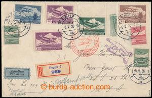 197811 - 1936 ZEPPELIN / 1. NORDAMERIKAFAHRT 1936 - přípojný let Prah