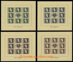 197823 - 1946 Mi.Klb.772B-775B, aršíky Renner 1S+1S - 5S+5S, kompletn