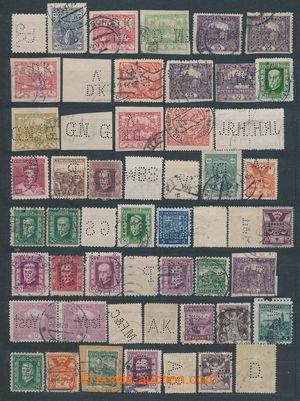 197836 - 1918-1944 sestava více jak 120ks perfinů na čs. známkách růz