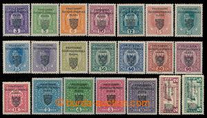 197869 - 1918 Pof.RV1-21, Pražský přetisk I (malý znak) 3H - 10K, kom
