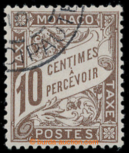 197947 - 1909 POSTAGE-DUE  Mi.7, Numerals 10C dark brown; cat. 140€