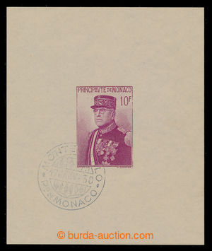 197948 - 1938 Mi.Bl.1, miniature sheet Louis I. with cancel. 1. of da