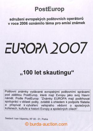 197958 - 2007 [SBÍRKY]  EUROPA / SKAUTING  velmi pěkná tématická sbír