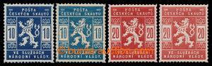 197977 - 1918 Pof.SK1-2 + SK1a-2a, 2 kompletní série, 1x 10h modrá a