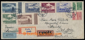 198008 - 1939 Reg, express and airmail letter sent already to Germany