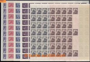 198027 - 1943-1944 ARCHOVINA  sestava kompletních archů: Pof.102, Den