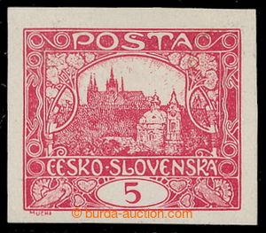 198042 -  ZT  hodnoty 5h, V. kresba, zkusmý tisk v červené barvě na k