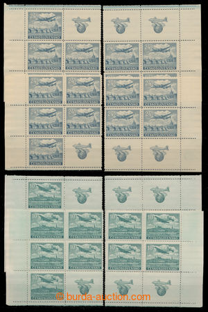 198073 - 1946 Pof.L16a, L20-L24, Letecké motivy, sestava rohových 4-b