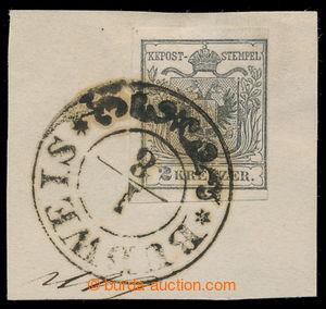 198106 - 1850 Ferch.2HI, výstřižek se známkou Znak 2Kr, stříbřitě šed