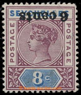 198116 - 1901 SG.40a, Viktorie 8C s přetiskem 6 CENTS, PŘETISK PŘEVRÁ