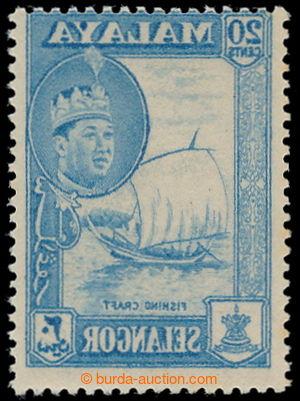 198127 - 1861 SG.135var. Sultán Abdul Aziz - Plachetnice 20C modrá s